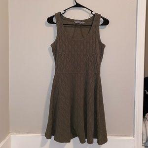 Athleta textured olive green mini dress